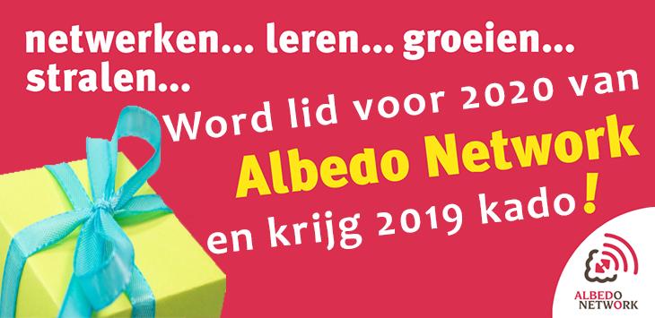 wordt lid van Albedo Network voor 2020 en krijg 2019 kado