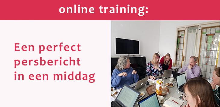 online training een perfect persbericht in een middag